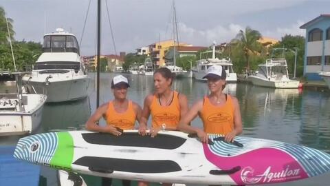 Remando desde La Habana hasta Key West, tres mujeres buscan romper un Ré...