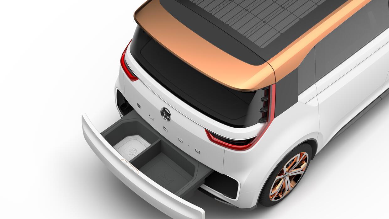 Gaveta de carga en el Volkswagen BUDD-e Concept
