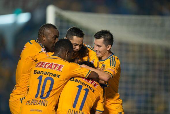 Antes de finalizar el primer tiempo el Tigres conseguiría el empate por...