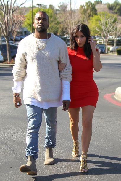 La estrella de televisión fue al cine con su amado Kanye West y para tan...