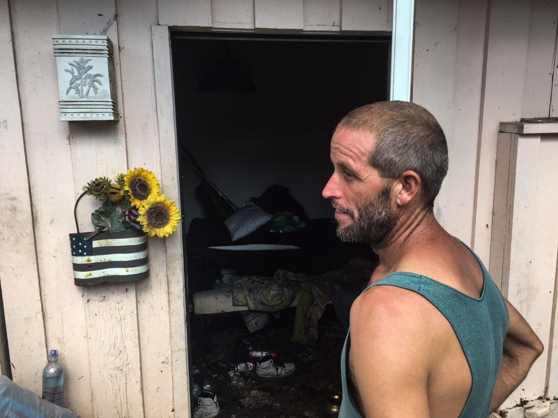Oden Robert, 40, at his house in Tavernier Key. He is from Arkansas but...