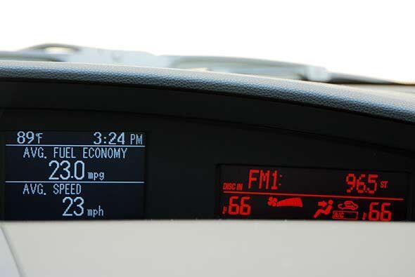 El consumo de combustible luego de una semana de uso promedió 23 millas...