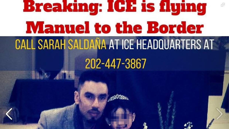 Imagen de una campaña para parar la deportación de Manuel Román.