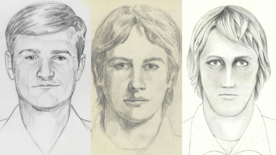 Retrato hablado del presunto homicida y violador.