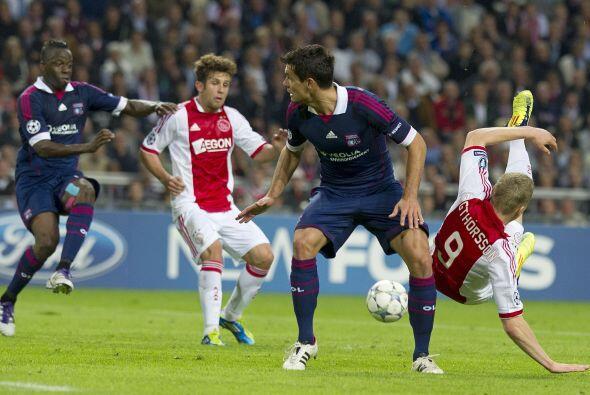 Mientras que el Lyon esperó el error del Ajax, cosa que no pasó.