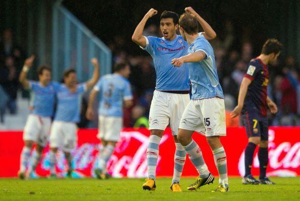 Así llegó el gol de Oubiña a tres minutos del final.