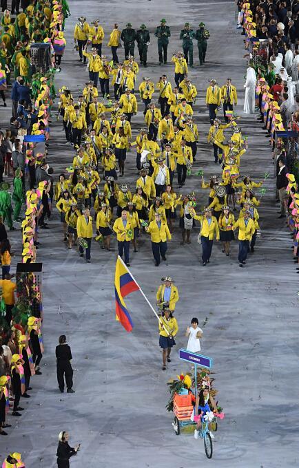 Latinoamericanos en la inauguración de Rio 2016.