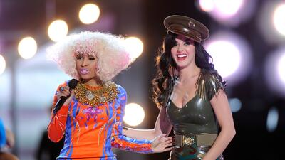 MIRAMAR, CA - DECEMBER 03: Recording artist Nicki Minaj and singer Katy...