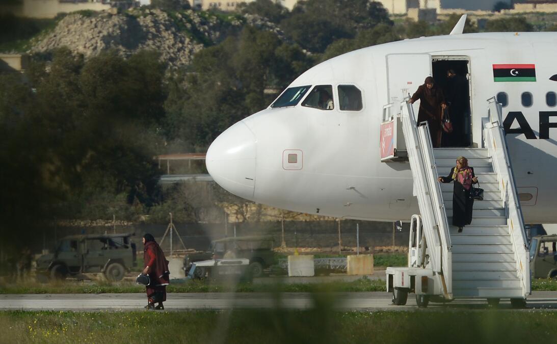 Avion Libio secuestrado