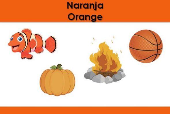 El color naranja. ¿Qué otras cosas son naranjas?
