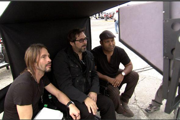 Tony junto a Sergio y Pablo.