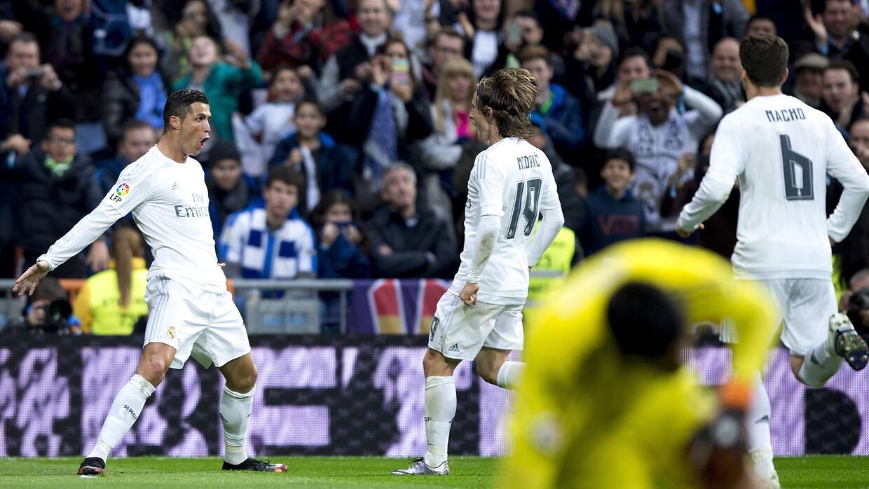 Cristiano volvió a marcar un doblete en el Bernabéu
