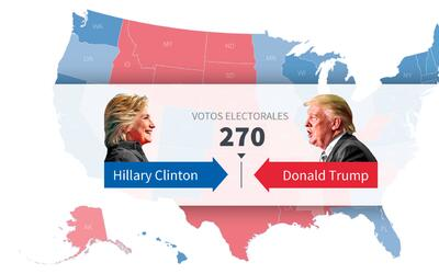 Hillary Clinton gana gracias a una moneda al aire en un precinto del cau...
