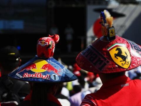 El alemán Sebastian Vettel (Red Bull) ganó en el circuito...