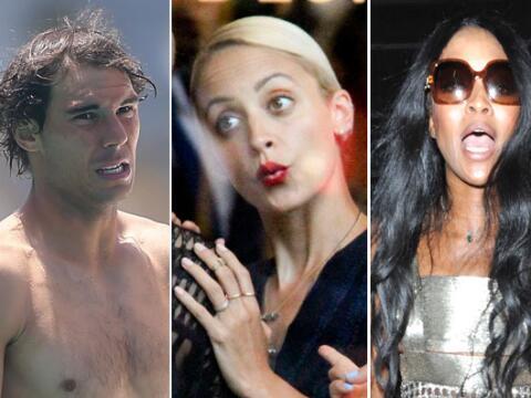 ¡Mira qué caritas las de estos famosos!