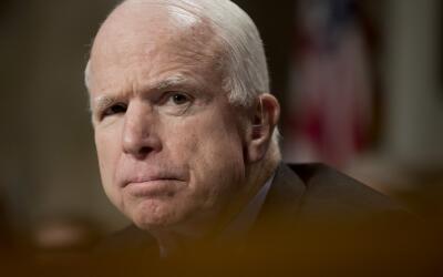 La oficina del senador informó en un comunicado de prensa que McC...