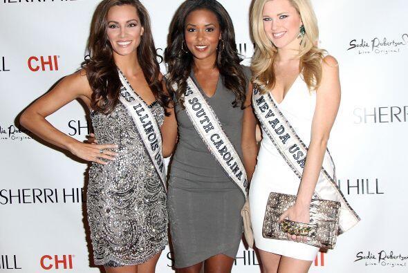 Algunas aspirantes a la corona de Miss USA no se perdieron de esta gran...