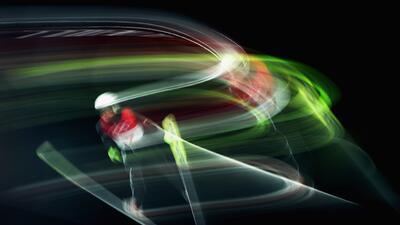 Para disfrutarlas como arte: las postales del deporte con lo que el ojo no percibe