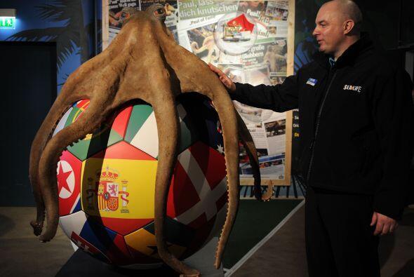 Se puede apreciar la bandera del Campeón del Mundo, España, en el centro...