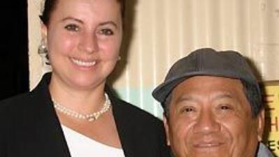 Archivo: El maestro Armando Manzanero en 2003 con su esposa Olga Aradillas.