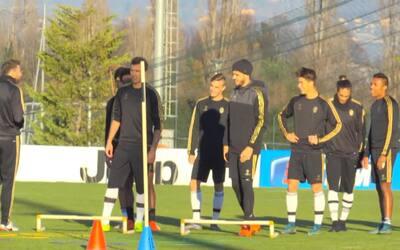"""Cuadrado """"derriba"""" a Morata en el entrenamiento de la Juventus"""