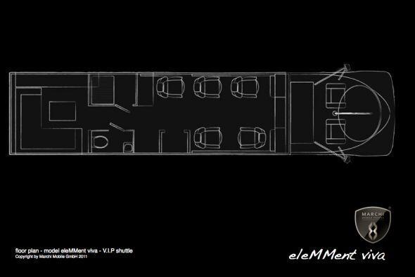 Los bocetos muestran espacio para el piloto y seis pasajeros que gozan d...