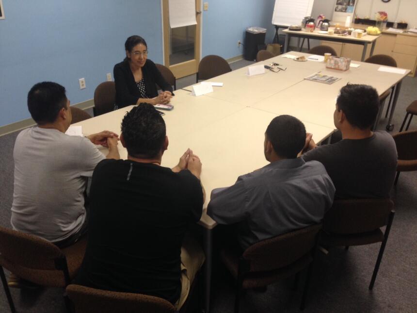 La organización Peace Over Violence, con sede en Los Ángeles, California...
