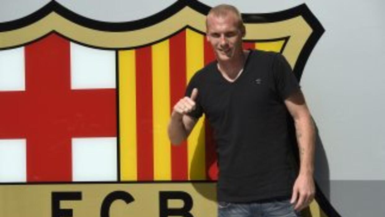 """""""Estoy muy orgulloso de estar en el Barcelona"""", añadió Mathieu."""