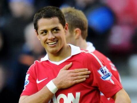 Javier Hernández le dio la victoria al 'Man-U' sobre el Everton l...