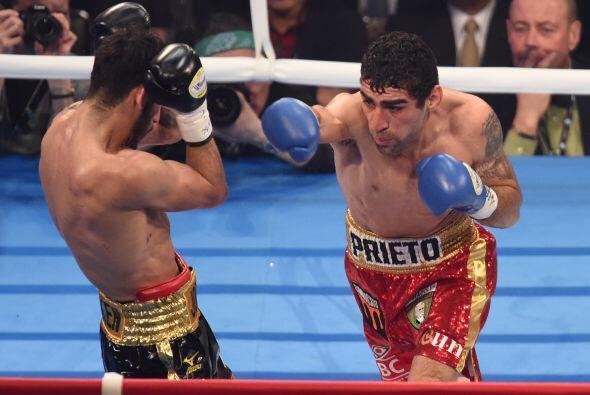 Prieto venía de dos empates en sus dos peleas del 2014, pese a lo cual e...