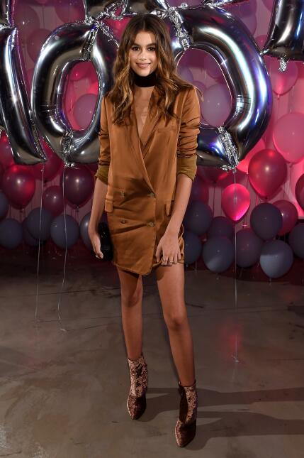 Kaia Jordan Gerber attends the Jimmy Choo 20th Anniversary Event during...