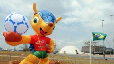 Algunas zona en Brasil ya muestran a la mascota oficial del mundial del...