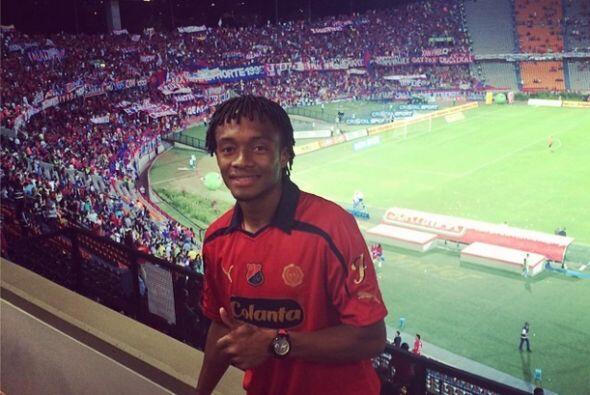 Juan Cuadraro se tomó una foto en un partido de su ex equipo, el Indepen...