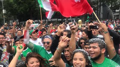 El Ángel de la Independencia se pone de fiesta con el triunfo de México en el Mundial