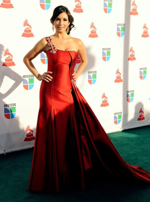 Actress Giselle Blondet arrives at the 10th annual Latin GRAMMY Awards h...