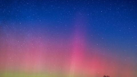 Aurora boreal de la madrugada del lunes