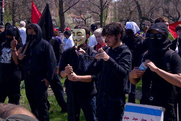 Concentración de manifestantes en el Union Park antés de marchar hasta e...