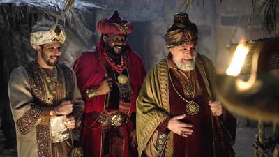 Melchor, Gaspar y Baltasar finalmente encontraron a Jesús para celebrar su nacimiento