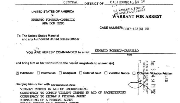 """La orden de arresto contra """"Don Neto"""" que la DEA no pudo cumplir."""