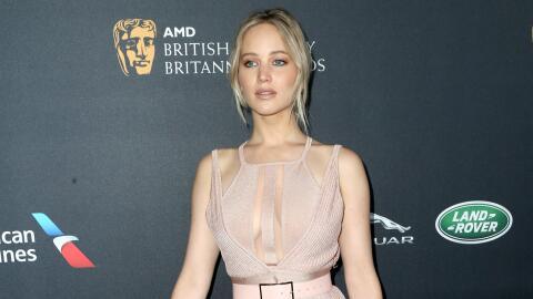 Jennifer Lawrence durante los Britannia Awards 2016