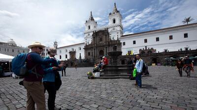 Turistas en Quito