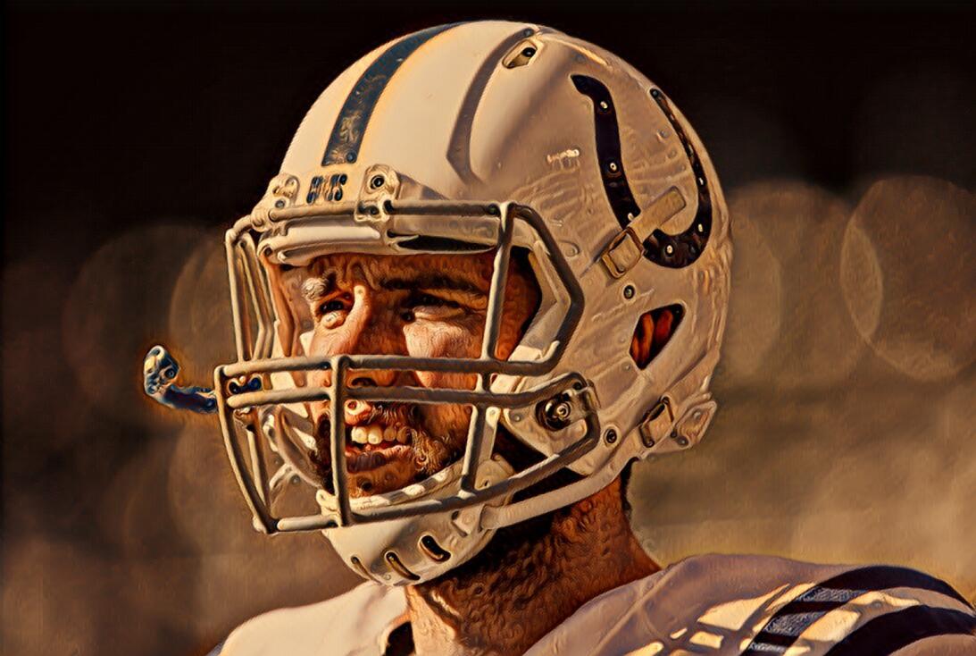 Andrew LuckEl mariscal de campo de los Indianápolis Colts no se pudo rec...