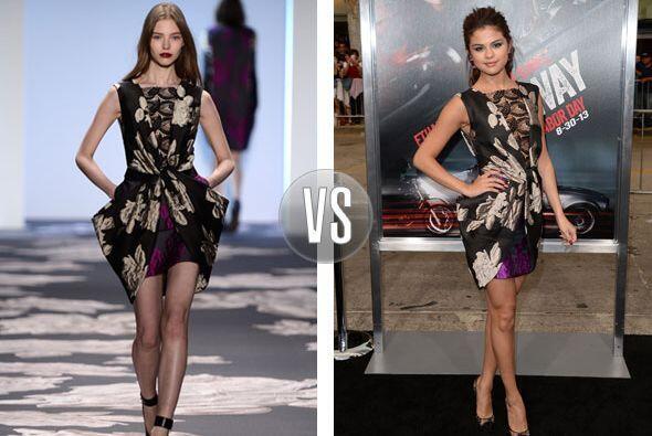Vera Wang sedujo a Selena Gomez y para la 'premiere' de la película 'Get...