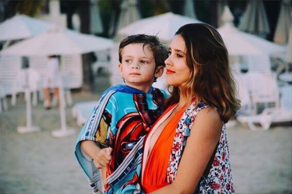 Paulina Goto y el hijo de Horacio Pancheri