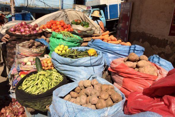 También hay alimentos a la venta en los mercados al aire libre.