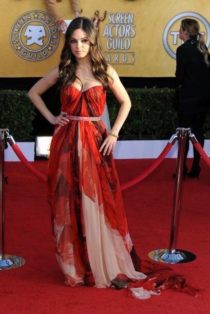 Algo diferente fue lo que nos mostró Mila Kunis, fue una de las pocas ar...