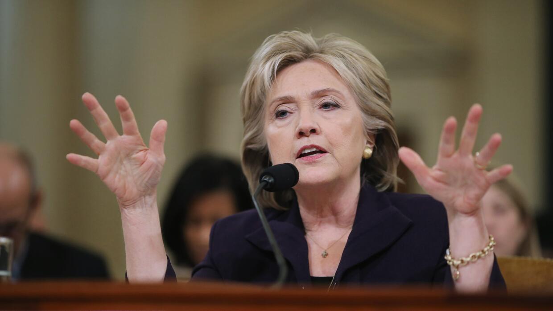 Hillary Clinton en la audiencia sobre Bengasi.