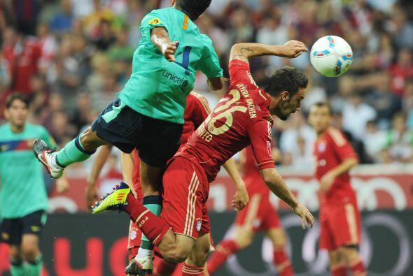El Bayern comenzó mejor pero rapidamente el conjunto españ...