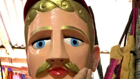 Güegüense mask.