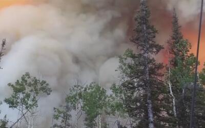 Cerca de 1,500 residentes fueron evacuados por incendio forestal en Utah